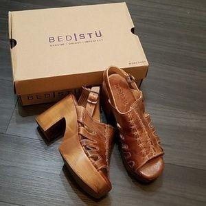 Bed Stu Fontella Leather Platform Sandals